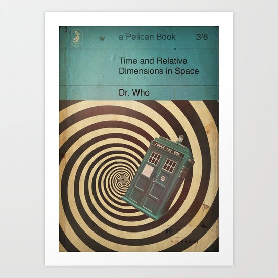 TEXTBOOK TIMELORD Art Print