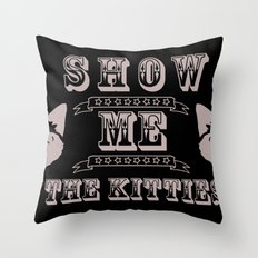 The Kitties Throw Pillow