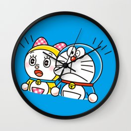 Doraemon with Dorami Wall Clock