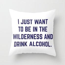 Wilderness & Booze Throw Pillow