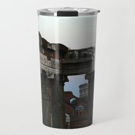 Roman Forum and Colosseum of Rome at Sunset Travel Mug