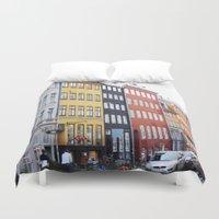 copenhagen Duvet Covers featuring Copenhagen by Anya Kubilus