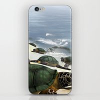 turtles iPhone & iPod Skins featuring Turtles by nicky2342