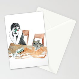 Green Muse, art by BoubouleArt Stationery Cards