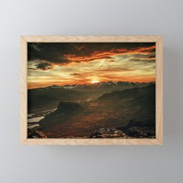 Fire Mountain Framed Mini Art Print
