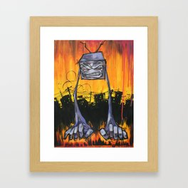 Slum TV Framed Art Print