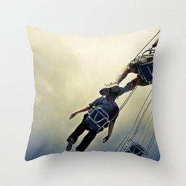 Flying Bodies Throw Pillow