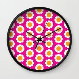 1970s Daisy pattern Wall Clock