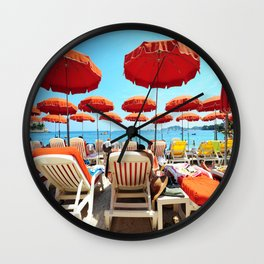 Another Day In The French Riviera Wall Clock