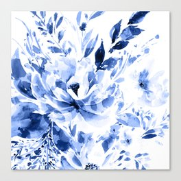 Blue Blomm Canvas Print