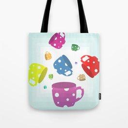 Tea Cup Tumble Tote Bag
