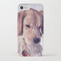 golden retriever iPhone & iPod Cases featuring Golden Retriever by Heather Amber