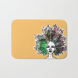 Paint the town Bath Mat