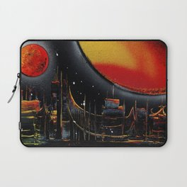 Moonlight Over The Shifting City Laptop Sleeve