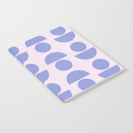 Shapes in Periwinkle Notebook