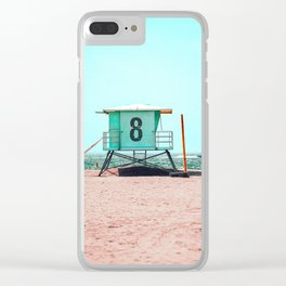 California Lifeguard Tower Clear iPhone Case