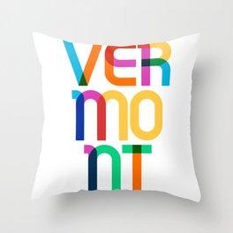 Vermont State Mid Century, Pop Art Mondrian Throw Pillow