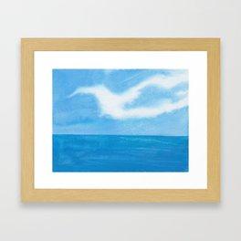 White Dove Sky Framed Art Print
