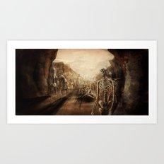 You See Bones Art Print