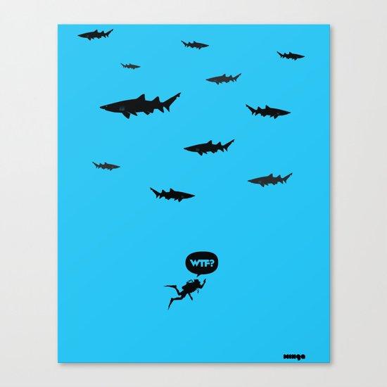 WTF? Tiburones! Canvas Print