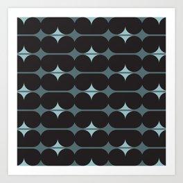 Capsules in Black Art Print
