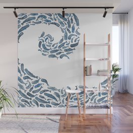 Whale Wave.  Wall Mural