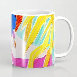Short Hair Girl and Plants Coffee Mug