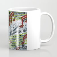 music notes Mugs featuring Music Notes by Paxelart