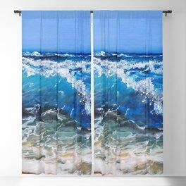 Rough Sea Blackout Curtain