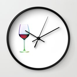 Cheers Red Wine Wall Clock