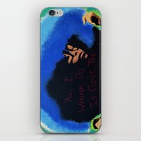 erykah badu iPhone & iPod Skins featuring Afro Blue: Erykah Badu by Artistik Rebel Creative