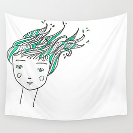 Wet Hair Wall Tapestry