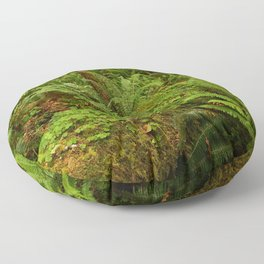 In The Cold Rainforest Floor Pillow