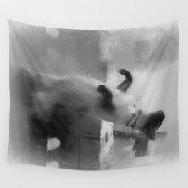 Dancing Cat Wall Tapestry