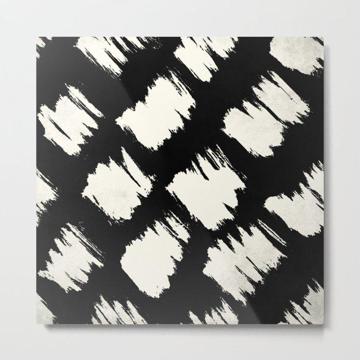 Tribal Brushed Dot Metal Print