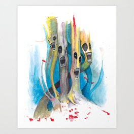 Barbershop Quartet of Evil Trees Art Print