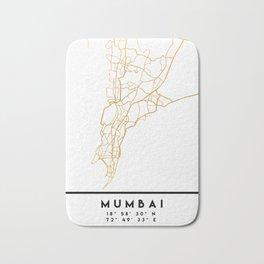 MUMBAI INDIA CITY STREET MAP ART Bath Mat