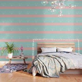 Paper love on mint green Wallpaper