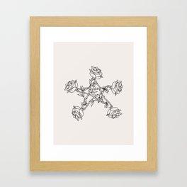 Rose Pentacle Framed Art Print