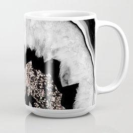 Gray Black White Agate with Rose Gold Glitter #1 #gem #decor #art #society6 Coffee Mug