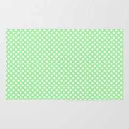 Polka Dots Pattern-Green Rug
