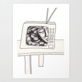 Three Sleepers - Television Art Print