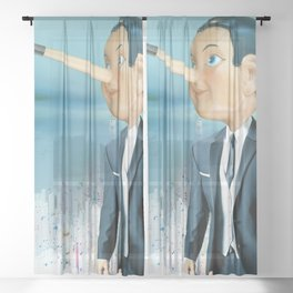 The Lie of Pinocchio Sheer Curtain