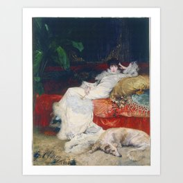 Portrait of Sarah Bernhard, t Georges Clairin Art Print