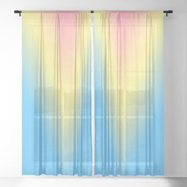 color in Pastel Sheer Curtain