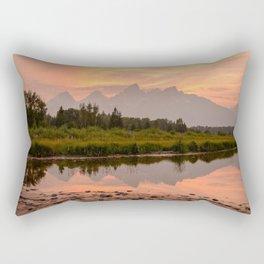 Tetons Summer Sunset Grand Teton National Park Wyoming Mountain Landscape Rectangular Pillow