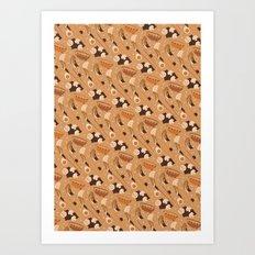 Ramen pattern 2 Art Print