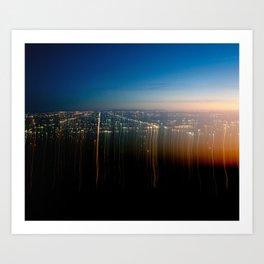 l.a. lights Art Print