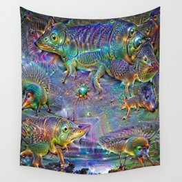 Under the stars on the Sandstone road Wall Tapestry