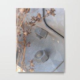 Weeds and Metal Metal Print